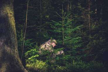 Hiding Poacher in Deep Forest