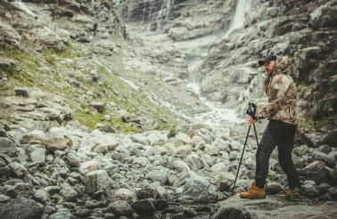 Hiker on the Alpine Trail
