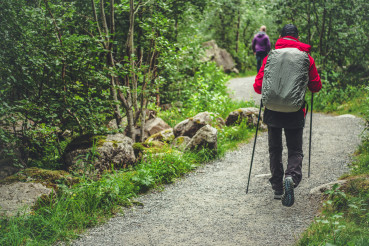 Hikers on the Alpine Trail