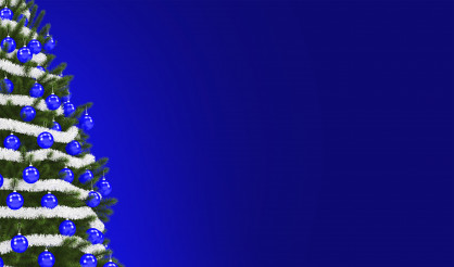 Holiday Time Blue Copy Space Banner Background