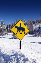 Horse Ride Street Sign