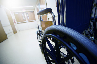 Hospital Hallway Wheelchair