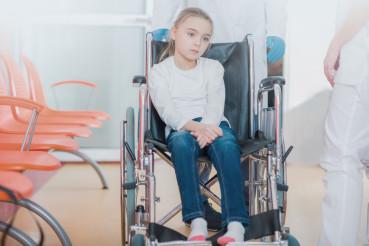 Hospitalized Girl on Wheelchair