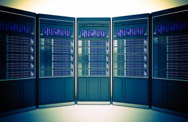 Hosting Servers Room Concept