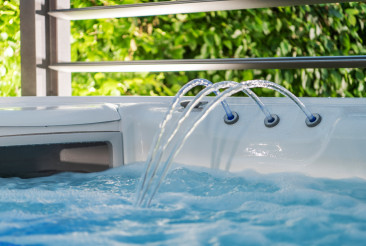 Hot Tub Jacuzzi Fountain and Skimmer Close Up