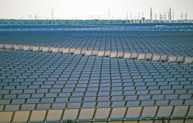 Huge Solar Power Plant
