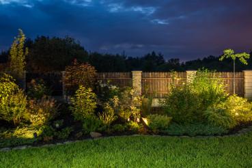 Illuminated Front Yard Garden