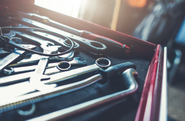 Industrial Tools Cabinet Drawer Full of Iron Wrenches
