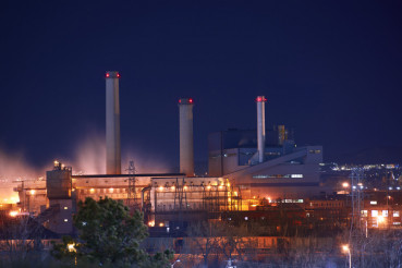Industrial Zone at Night