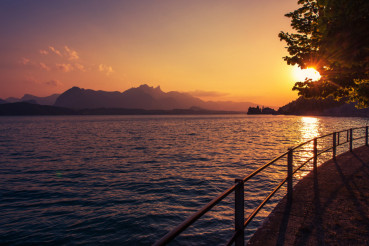 Interlaken Lake Thun Sunset