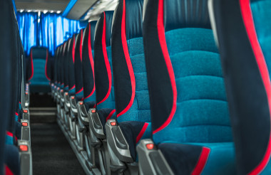 International Bus Coach Two Rows of Seats