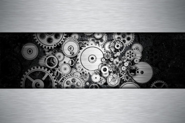 Iron Gears Metal Background