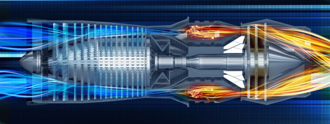 Jet Turbine Profile Illustration
