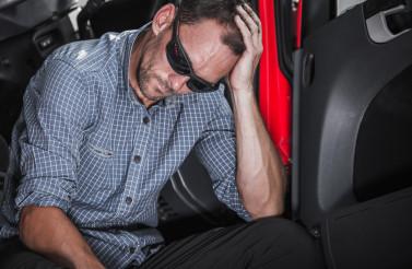 Jobless Unemployment Truck Driver Feeling Sad