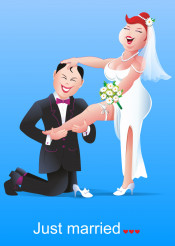 Funny Marriage Concept Illustration