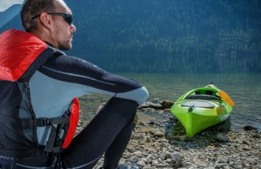 Kayaker and the Lake