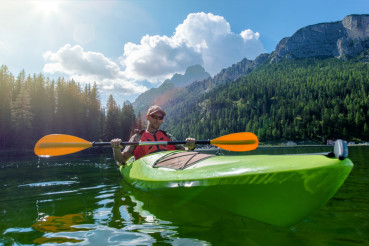 Kayaking on the Scenic Lake