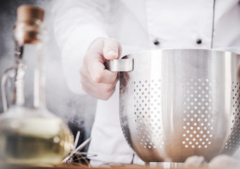 Kitchen Chef with Colander