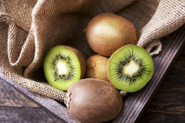 Kiwi in Wooden Crate