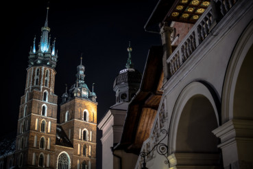 Krakow Main Square Night
