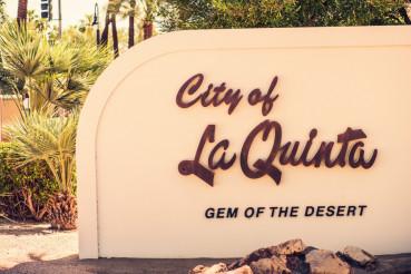 La Quinta City Sign