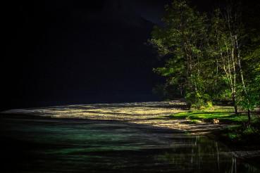 Lake Front Beach at Night