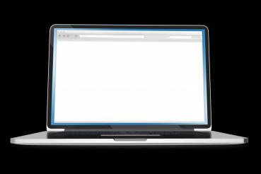Laptop on Black Background