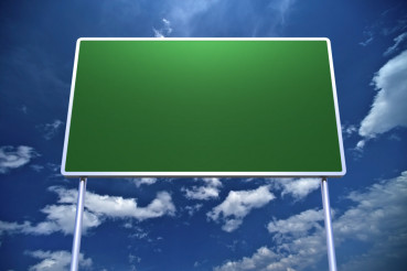Large Empty Road Sign