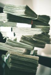 Large Pile of Cash Money