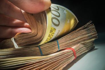Large Piles of Cash Money
