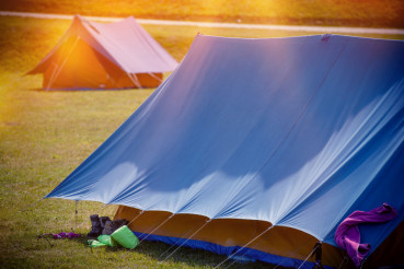 Large Tents on a Camping