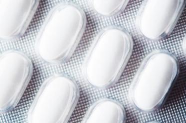 Large White Pills Closeup