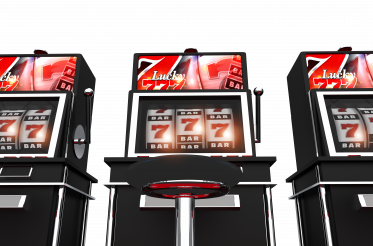 Las Vegas Slot Fruit Machines PNG 3D Illustration