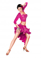 Latin Female Dancer Vector Illustration