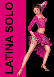Latina Solo South American Dancer Concept Illustration