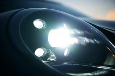 Front LED Headlight Of Vehicle.