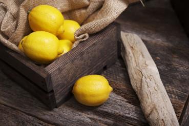 Lemons in Wooden Crate