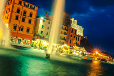 Lerici Italian Rivera at Night