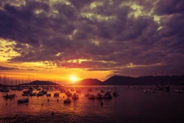 Lerici Italy Marina Sunset