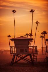 Lifeguard Tower at Sunset