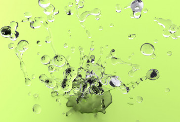 Light Green Water Splash