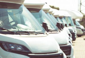 Line of Brand New Camper Vans Motorhomes