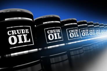 Line of Crude Oil Barrels