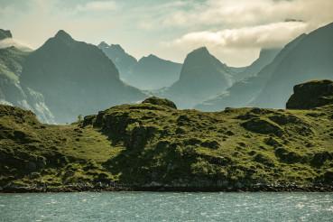 Lofoten Archipelago Mountain Range Norway