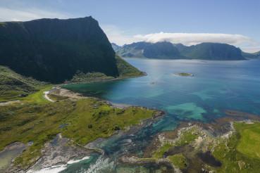 Lofoten Islands Norwegian Archipelago Aerial Photo