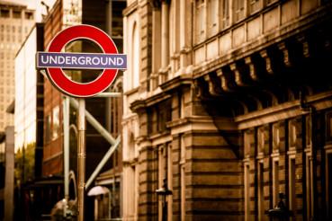 London Underground in Sepia