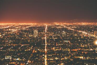 Los Angeles Metro at Night