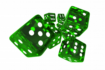 Lucky Green Glassy Casino Dices
