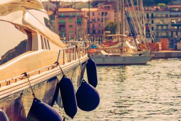 Luxury Yacht in the Marina