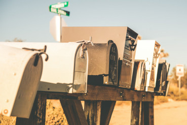 Mailboxes on a Desert Road